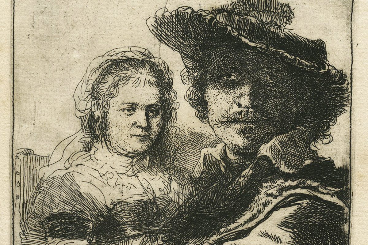 Rembrandt-Etching-Self-Portrait-With-Saskia