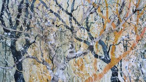 Mixed Media Painting of Trees by Jenny Grevatte