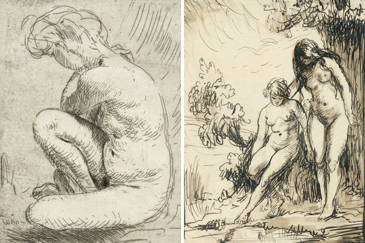 Augustus-John-Nude-Studies-Etching-And-Pen-And-Ink