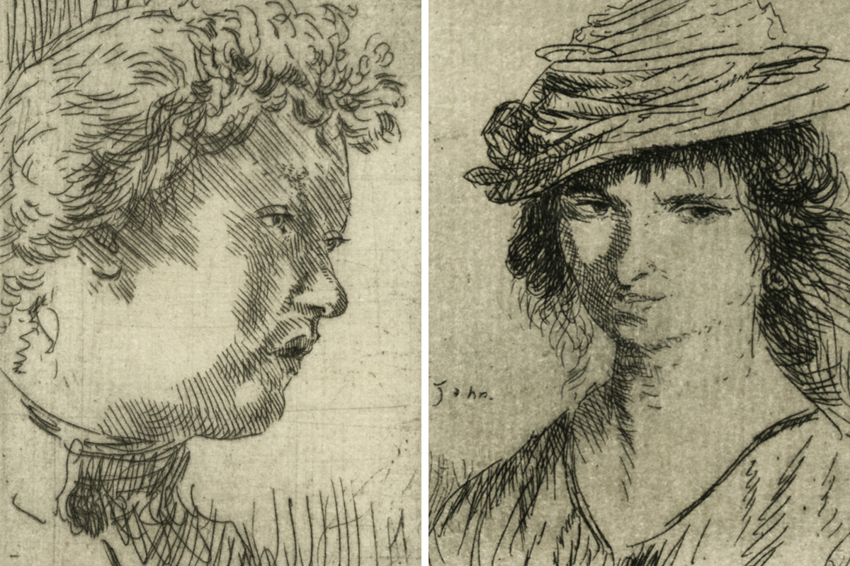 Augustus-John-Woman-Girl's-Head-Portraits-Etchings