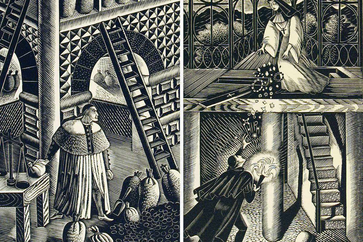Eric-Ravilious-Illustrations-to-The-Jew-of-Malta