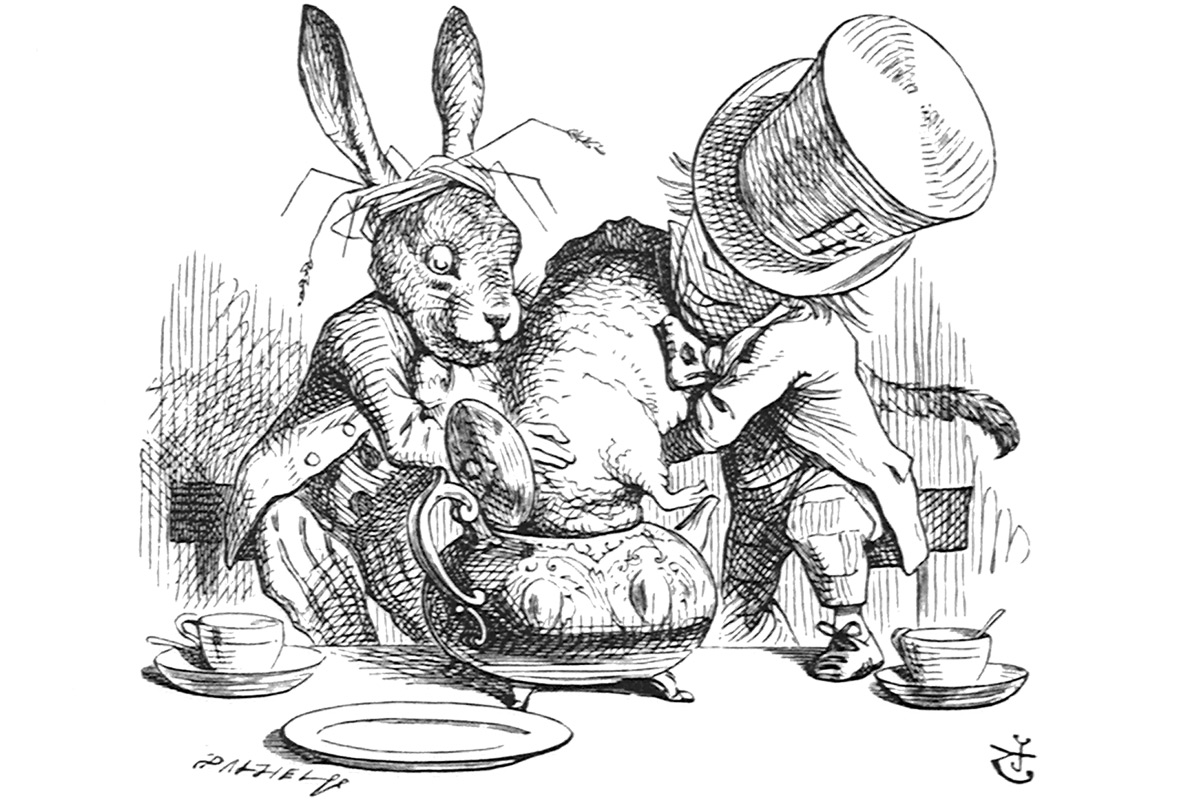 john-tenniel-alice-in-wonderland-wood-engravings-hatter-rabbit-dormouse-teapot