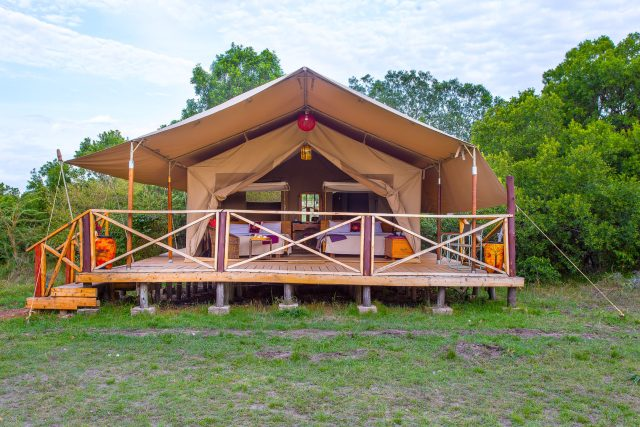 Luxury camping tented rooms