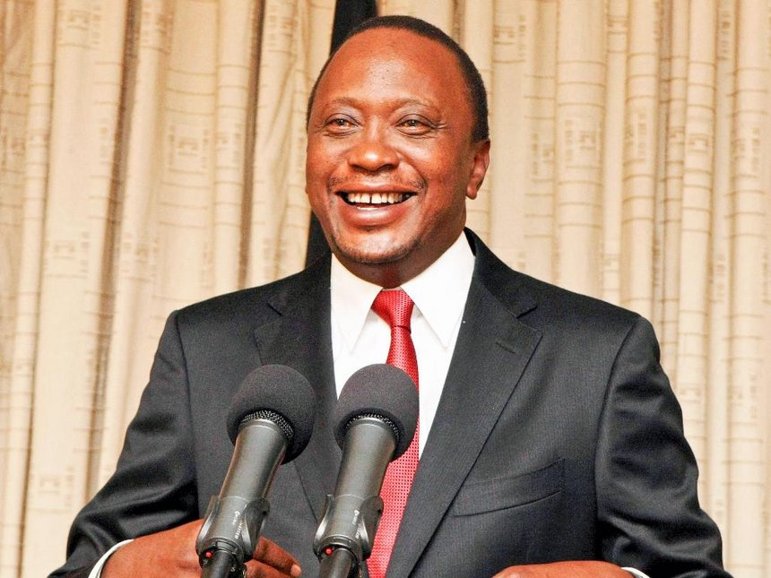 Incumbent President of Kenya, Uhuru Kenyatta