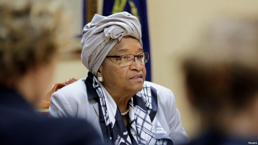 Outgoing Liberian President, Johnson Ellen-Sirleaf