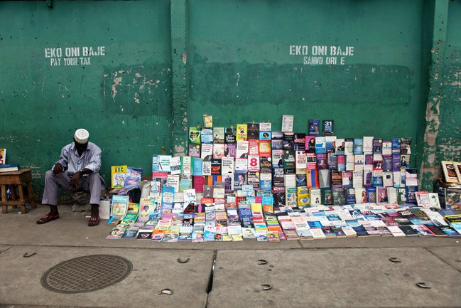 As Nigeria struggles to promote reading, some booksellers are finding more success than others.PHOTOGRAPH BY AKINTUNDE AKINLEYE / REUTERS / CORBIS