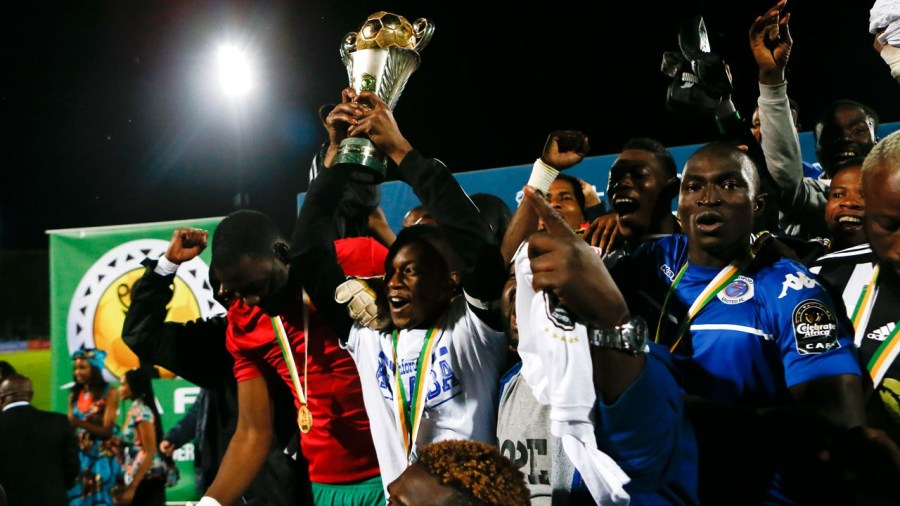 Governor Wike Wrestling Challenge Cup kicks off today  2 hours ago Union Bank vows to win 49th Asoju Oba Cup  2 hours ago Northwest Petroleum partners Cross River on football talent hunt  2 hours ago TP Mazembe players celebrate with the trophy their victory over Supersport United in the final football match of the CAF Confederation trophy at Lucas Moripe stadium in Atteridgeville on November 25, 2017 in Pretoria. PHILL MAGAKOE / AFP