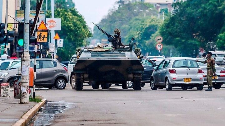 AU kicks as military moves to take control of Zimbabwe