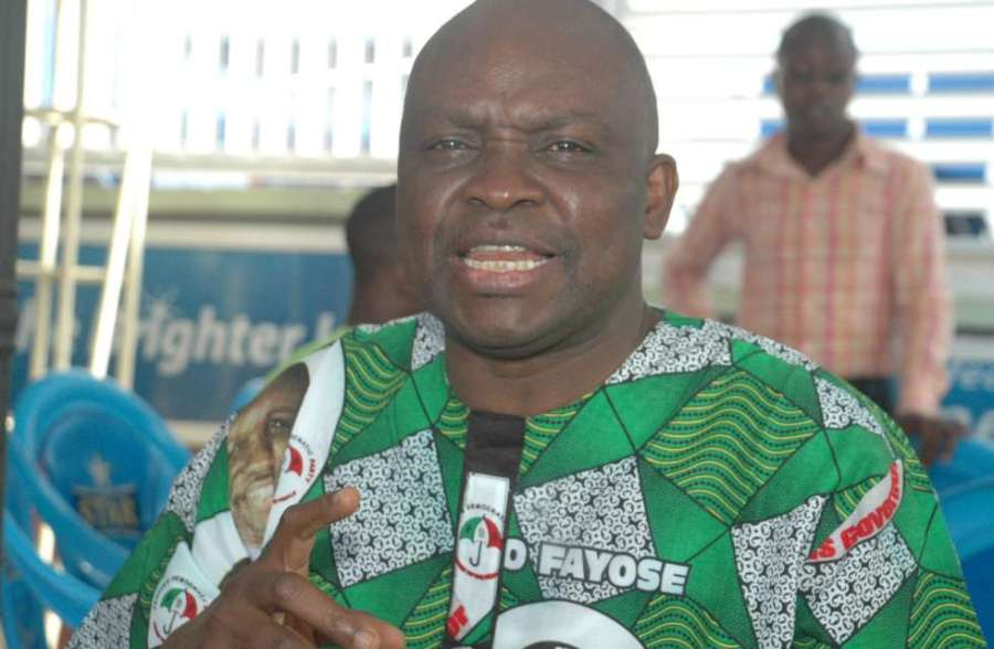 Outspoken PDP figure, Peter Ayodele Fayose, Governor of Ekiti State