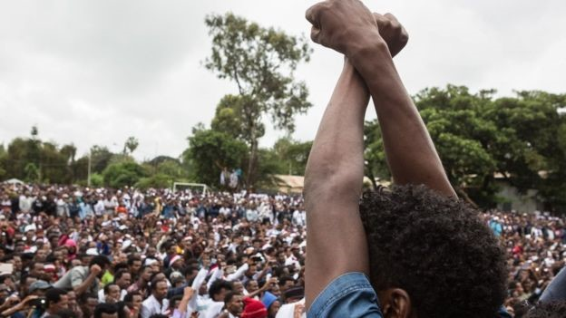 Thousands have been detained in Ethiopia since anti-government protests broke out/credit AFP