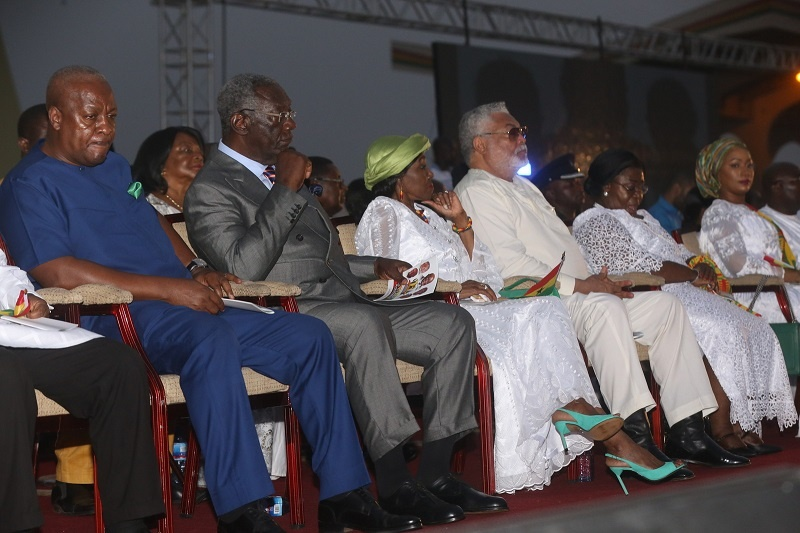 The historic Ghana event, held under an atmosphere of unity, brought together the former Presidents of the Fourth Republic; Flt. Lt. Jerry John Rawlings, John Agyekum Kufuor, and John Dramani Mahama, as well as Vice President Mahamudu Bawumia, the Speaker of Parliament Prof. Mike Ocquaye and Chief Justice Sophia Akuffo.