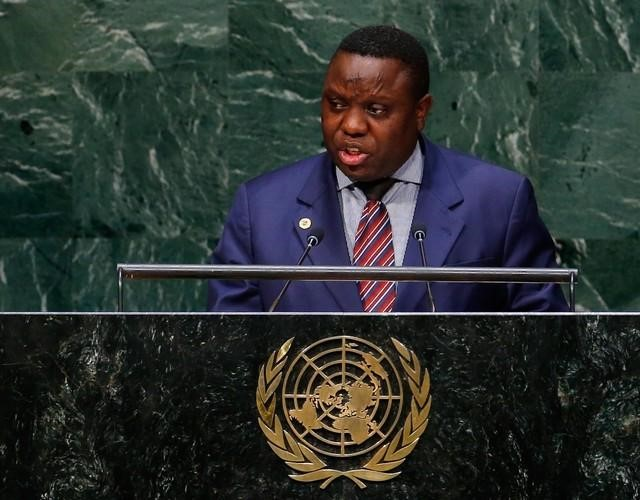Harry Kalaba, ex-Minister for Foreign Affairs for Zambia, addresses the 69th United Nations General Assembly at the U.N. headquarters in New York September 26, 2014. REUTERS
