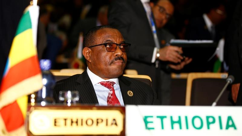 Hailemariam said he will stay on as prime minister in a caretaker capacity [Tiksa Negeri/Reuters]