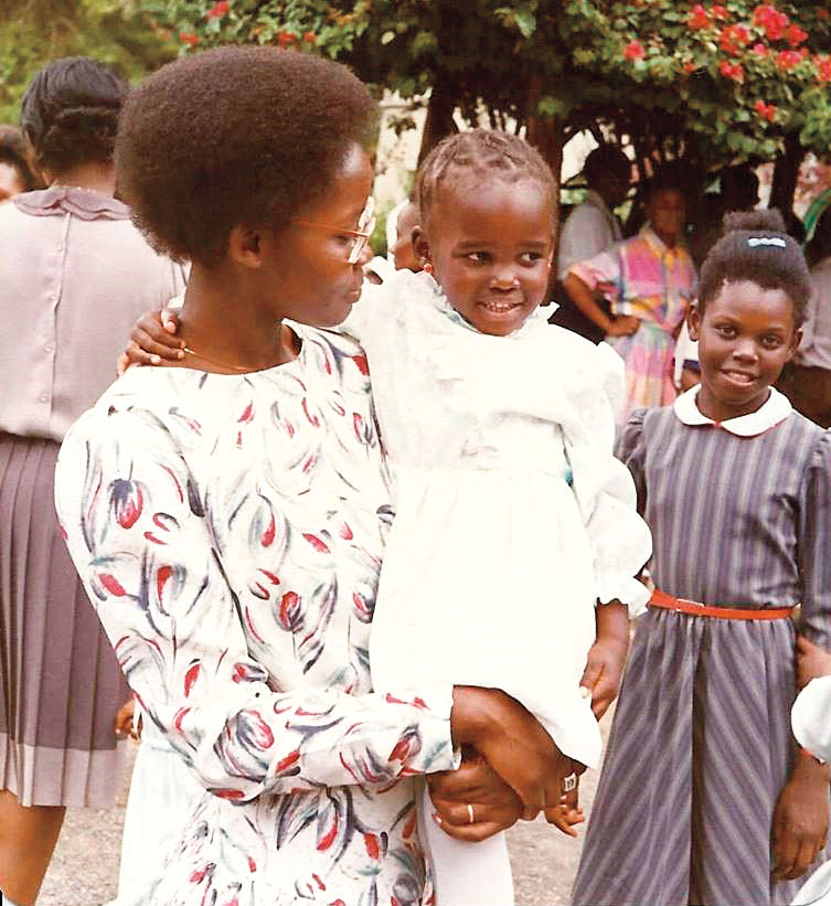 Courtesy of subject Dorothy with Lupita during the early 1980s