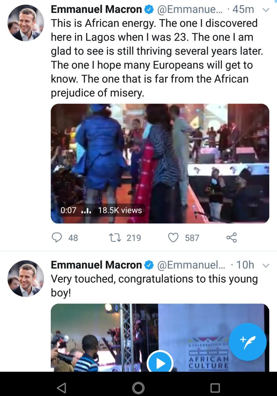 Macron tweet