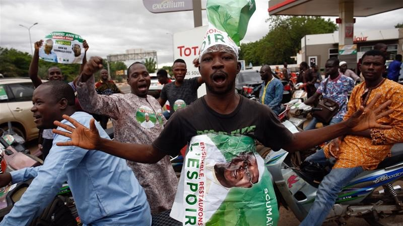 Mali supporters of candidate Soumaila Cisse attend an election rally in Bamako. Credit/Aljazeera