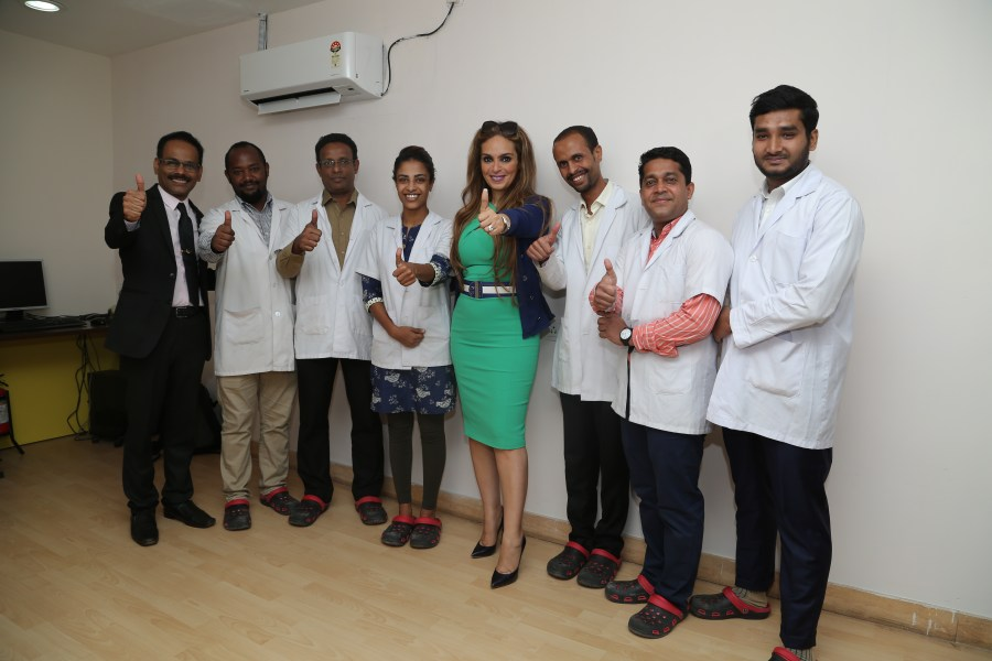 Dr. Rasha Kelej CEO of Merck Foundation and President, Merck More Than a Mother with the future Embryologists and Fertility experts from Africa getting trained at Manipal Academy of Higher Education