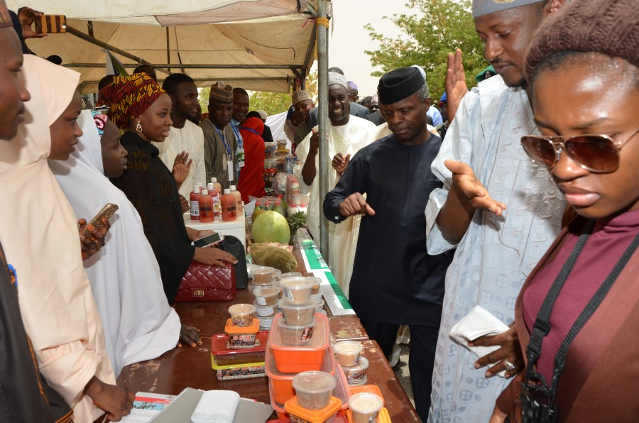 Vice President Yemi Osinbajo at MSME clinic in Kano, recently