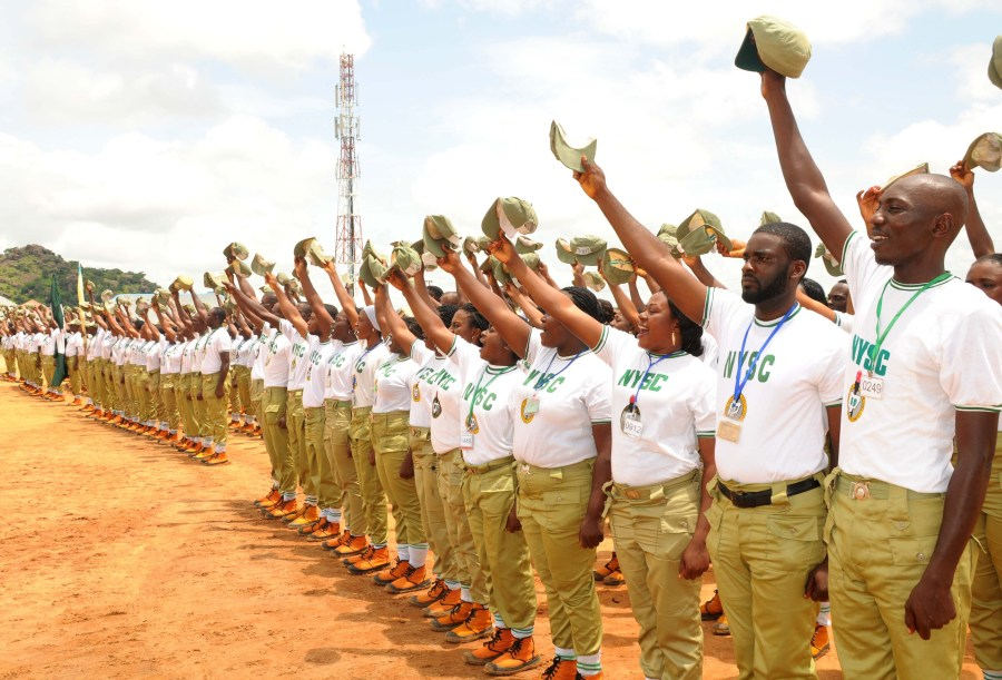 PIC.4. NYSC BATCH 'B' MEMBERS DURING THEIR PASSING OUT CEREMONY  IN JOS ON TUESDAY (16/7/13)