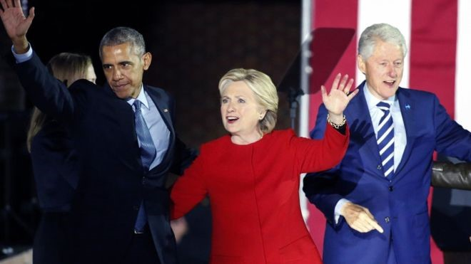 Barack Obama and Clintons