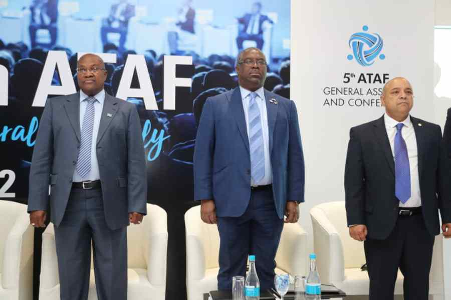 Executive Chairman, FIRS, Tunde Fowler (Middle), Botswana Finance and Economic Development Minister, Kenneth Mantambo (Left) and the Secretary General of ATAF, Logan Worth, at the opening of ATAF conference in Botswana