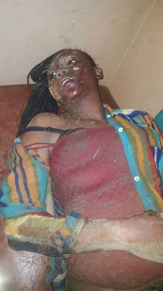 Temitope's lifeless body when she was taken to a Hospital in Kaduna