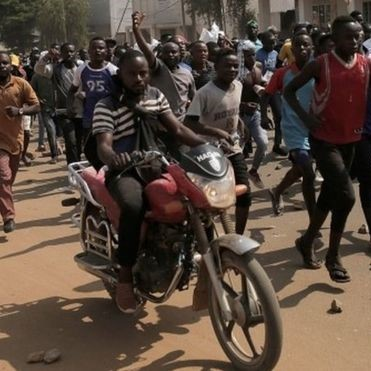 Protests as Opposition supporters accuse the government of trying to disenfranchise them Photo/BBC