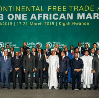 African heads of state and government pose during the African Union summit on establishing an African Continental Free Trade Area in Kigali, Rwanda, on March 21, 2018. Photo : AFP / Getty Images