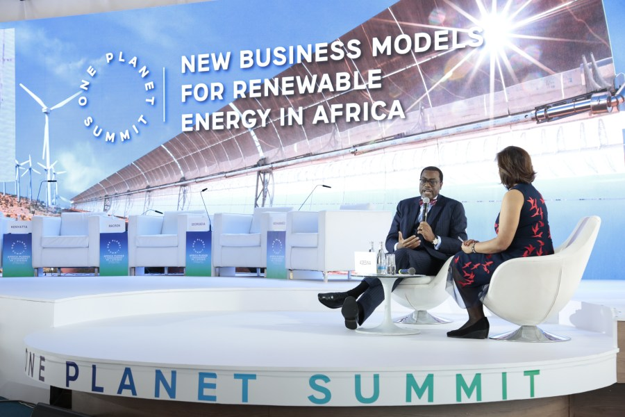 The African Development Bank pledges US$ 25 billion to climate finance for 2020-2025, doubling its commitments