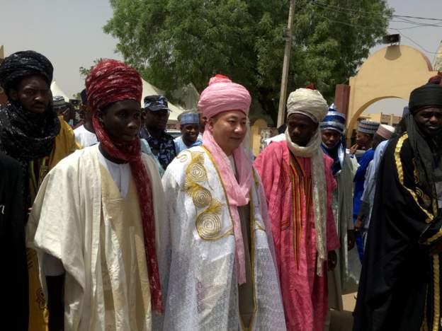 Kano emirate turbans Chinese businessman, Mike Zhang, chief