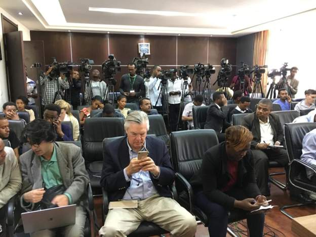 Journalists are gathering in the Ethiopian capital Addis Ababa for the release of the preliminary report into the crash of the Ethiopian Airlines Boeing