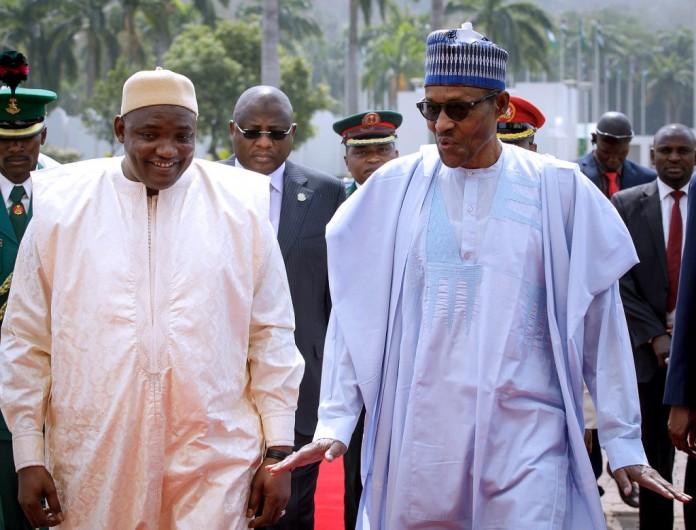 Gambia President, Barrow, visits Nigeria, meets President Buhari