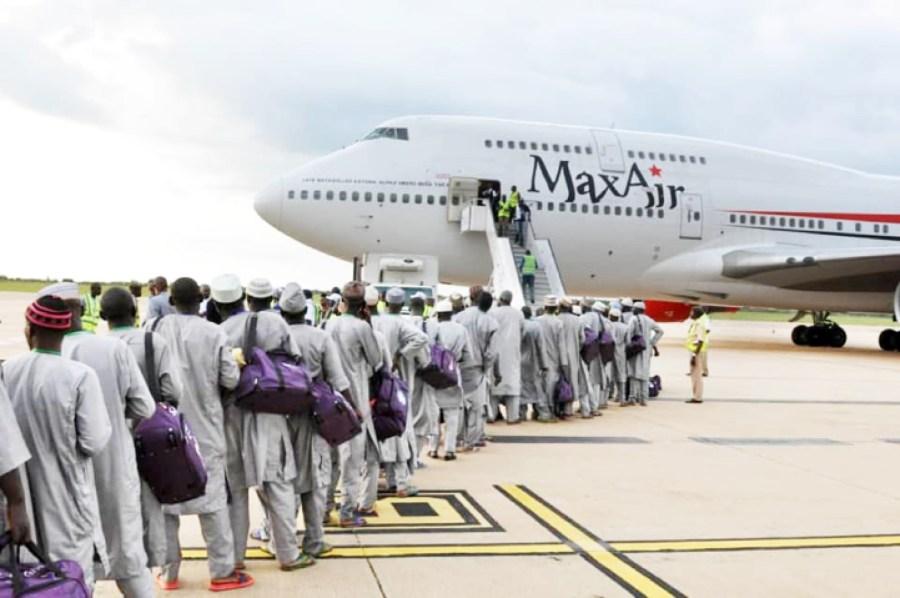 Nigerian pilgrims board their flight to Saudi Arabia