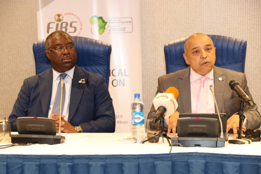 L-R:  Executive Chairman FIRS and Chairman, ATAF, Tunde Fowler and Executive Secretary of ATAF, Mr. Logan Wort at the opening of ATAF Technical Workshop on VAT in Abuja, Nigeria on Monday