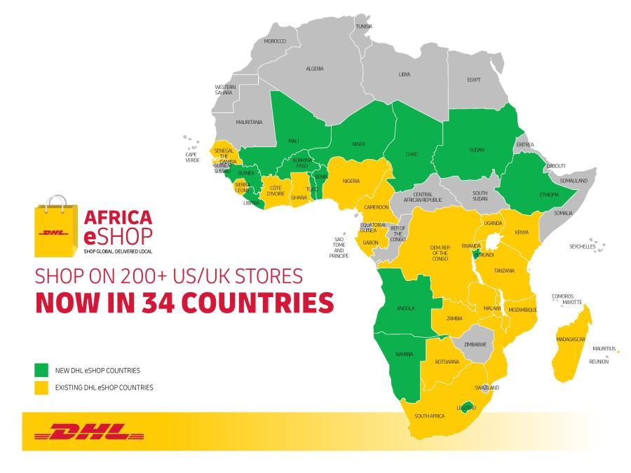 DHL expands eShop to 34 countries across Sub Saharan Africa