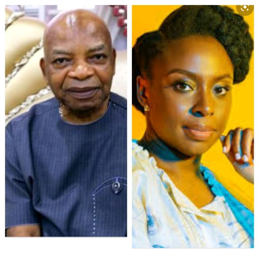 L-R: Prince Arthur Eze and Chimamanda Ngozi Adichie