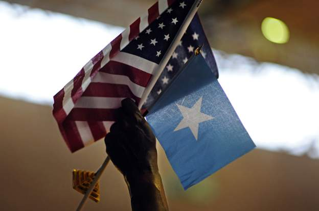 The US says the embassy symbolises the strengthening of its relationship with Somalia (AFP)