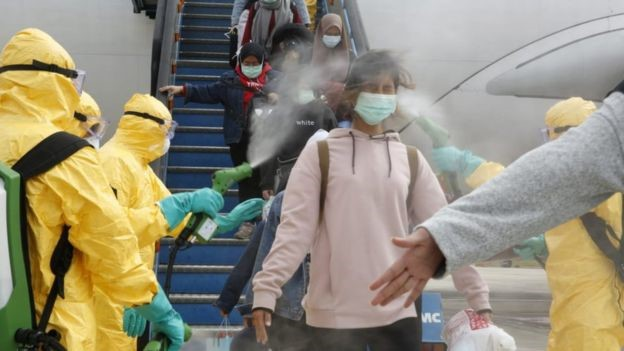 Travellers get quarantined against coronavirus after arriving from China