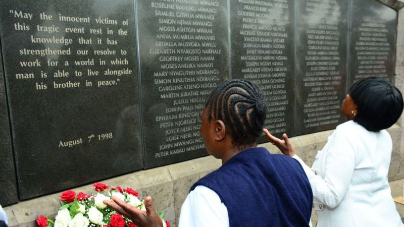 Sudan: There is now a memorial in the Kenyan capital, Nairobi, to the victims of the attack. Source/BBC