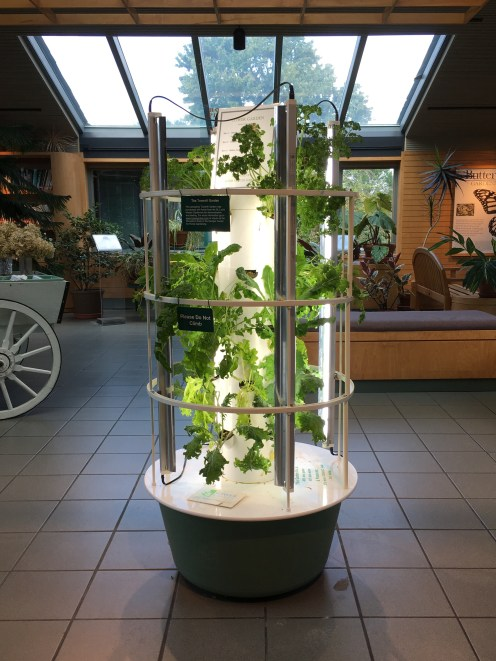 Tower garden at the William T. Kemper Center for Home Gardening