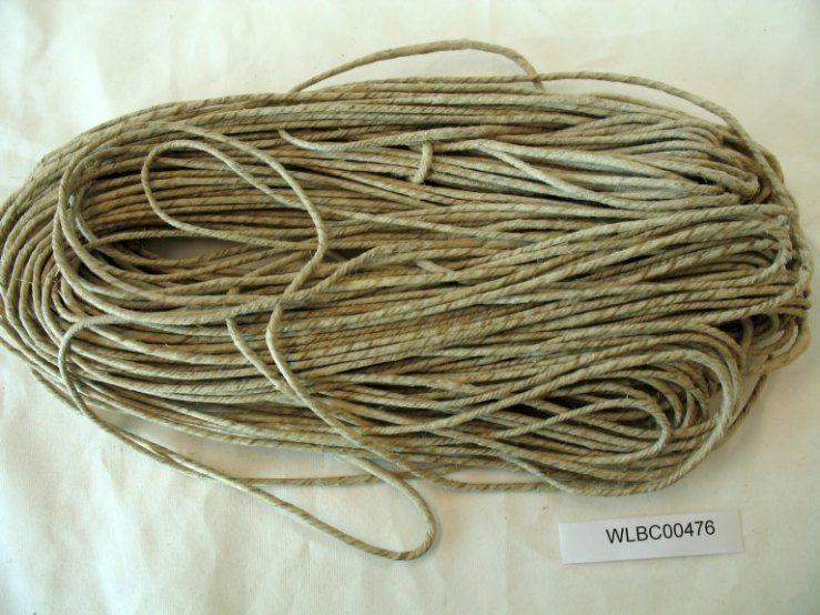 Hemp rope from the Garden's biocultural collection.
