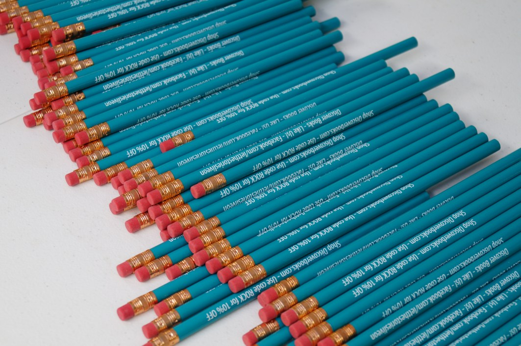 Discover Books pencils were used as prizes for some of the games!