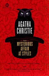 The Mysterious Affair at Styles by Agatha Christie - inspiring books form 1920s