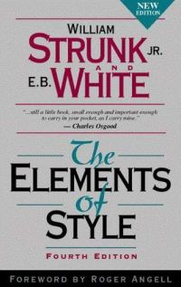 The Elements of Style: Fourth Edition by E.B. White book cover