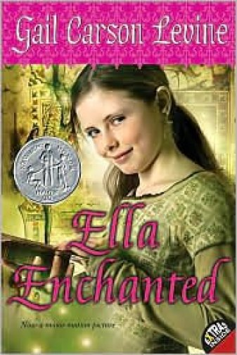 Ella Enchanted by Gail Carson Levine book cover