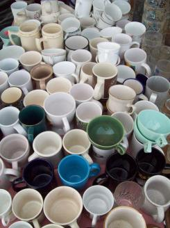 Mugs waiting for a new home