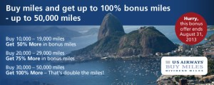 US Airways Bonus Miles