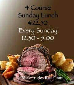 McGarrigles Restaurant SUnday Lunch
