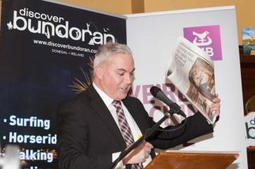 Bundoran Tourism Officer Shane Smyth speaking at the launch