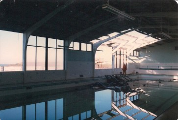 The town swimming pool was badly hit and would never open again in its current form. It was one of the reasons that Waterworld came about and opened 3 years later.
